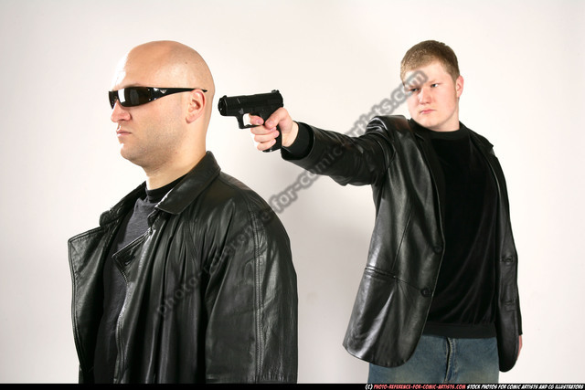 Adult Athletic White Fighting with gun Execution Coat Men