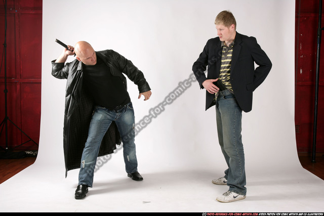 Adult Athletic White Fighting with gun Fight Jacket Men