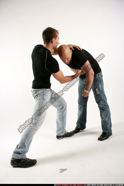 Adult Muscular White Fist fight Standing poses Sportswear Men