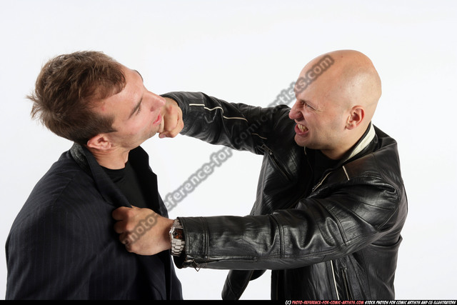 Adult Athletic White Fist fight Fight Jacket Men