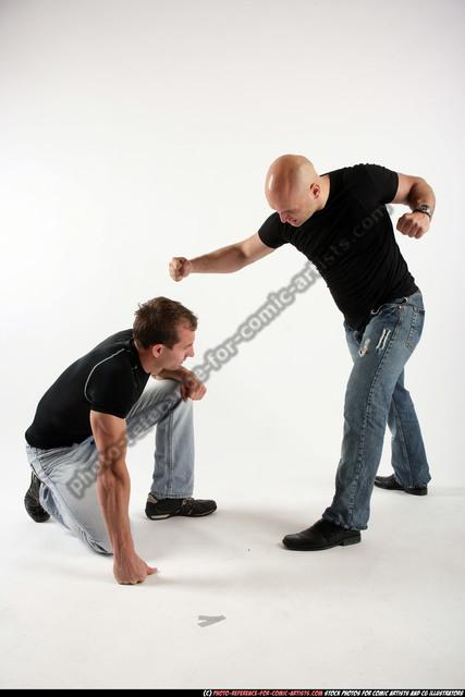 Adult Muscular White Fist fight Fight Sportswear Men