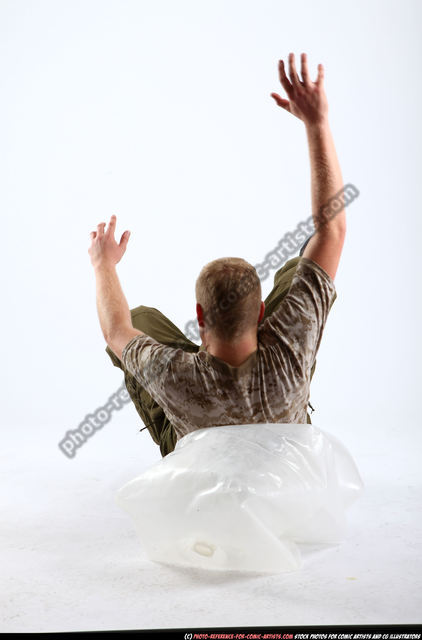 Man Adult Average White Neutral Moving poses Army