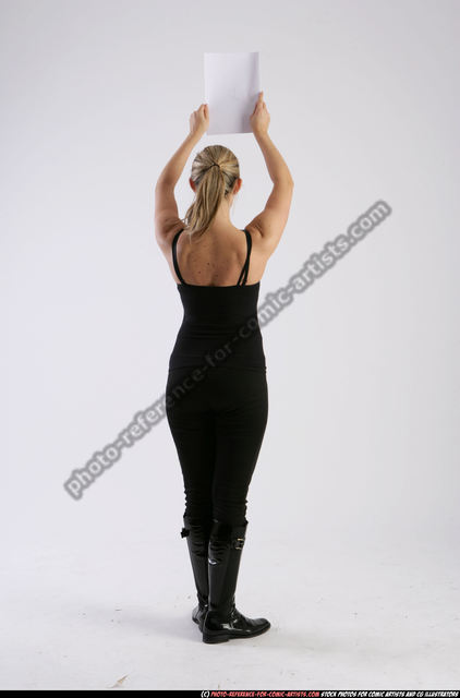 Woman Adult Athletic White Holding Standing poses