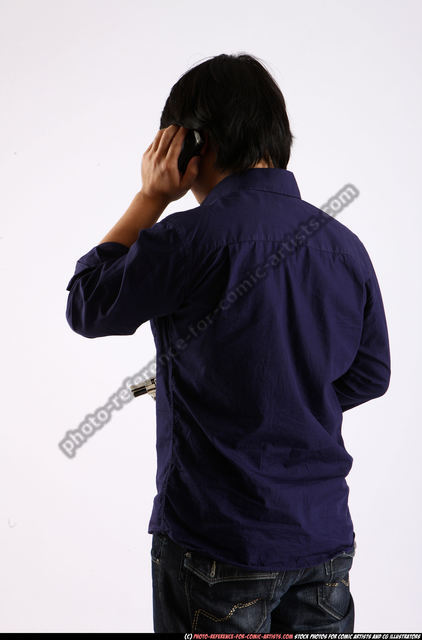 Man Adult Average Holding Standing poses Business Asian