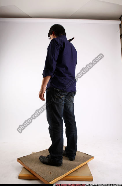 Man Adult Average Standing poses Casual Asian