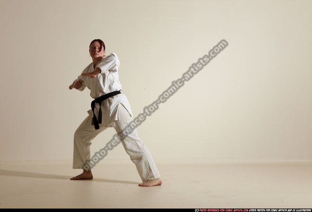 Woman Adult Average White Martial art Moving poses Sportswear