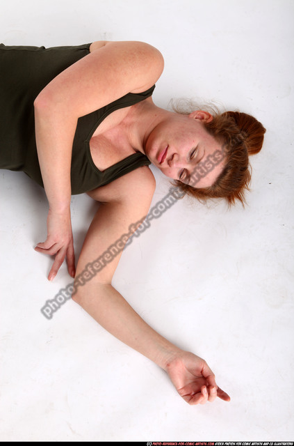 Woman Adult Average White Dead Laying poses Casual