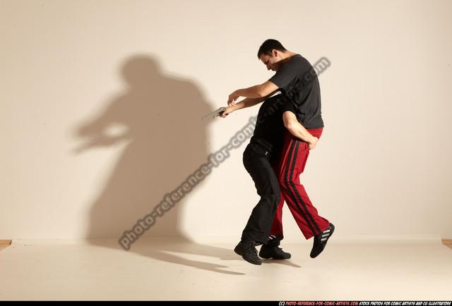 Adult Athletic White Magic Moving poses Sportswear Men