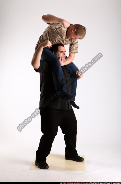Adult Chubby White Fist fight Standing poses Casual Men