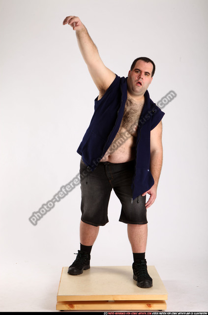Man Adult Chubby White Dead Standing poses Casual