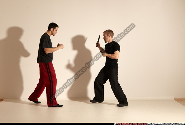 Adult Athletic White Martial art Moving poses Sportswear Men