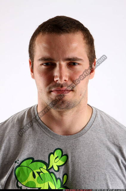 Man Adult Athletic White Facial expressions Detailed photos Casual