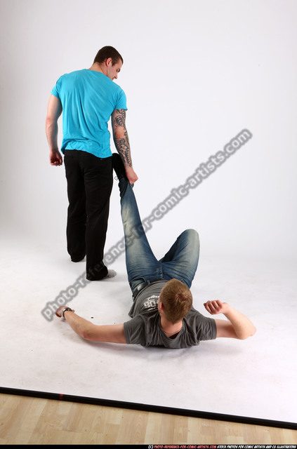 Adult Average White Martial art Moving poses Casual Men