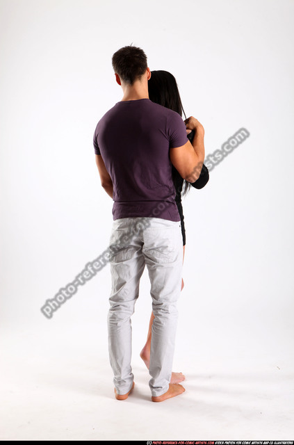 Man & Woman Adult Athletic White Daily activities Standing poses Casual