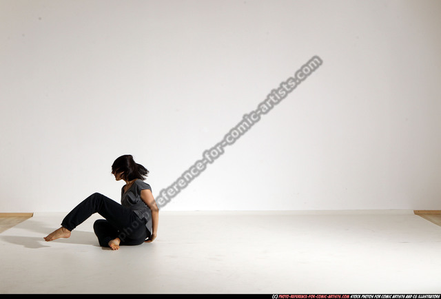 Woman Young Athletic White Moving poses Casual Dance