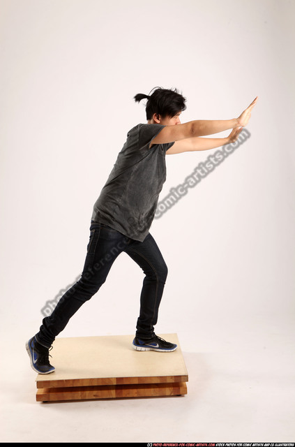 Man Young Athletic Daily activities Standing poses Casual Asian