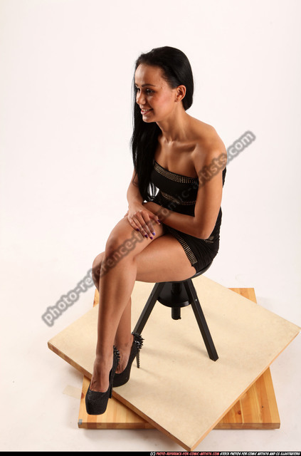 Woman Young Athletic Daily activities Sitting poses Casual Latino
