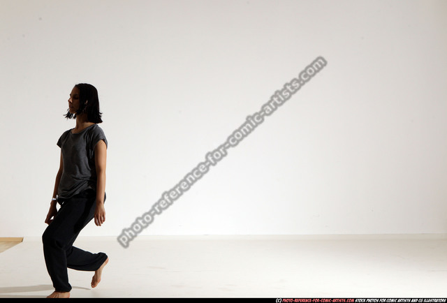 Woman Young Athletic White Daily activities Moving poses Casual
