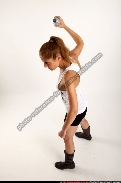 Woman Adult Athletic White Throwing Standing poses Casual