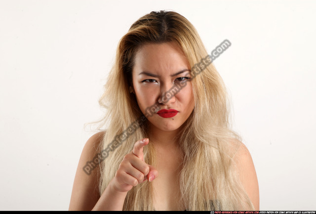 Woman Young Average Facial expressions Standing poses Casual Asian