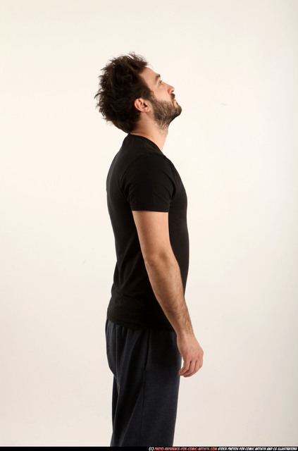 Man Adult Athletic White Facial expressions Standing poses Casual