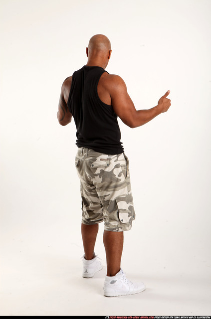 Man Adult Athletic Black Neutral Standing poses Casual