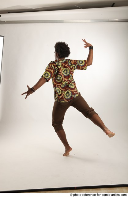 Man Adult Average Black Moving poses Coat Dance