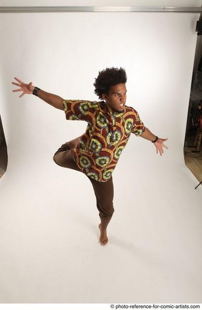 Man Adult Average Black Moving poses Coat Dance