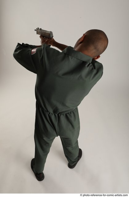 Man Adult Average Black Fighting without gun Standing poses Army
