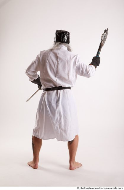 Man Adult Average White Fighting without gun Standing poses Casual