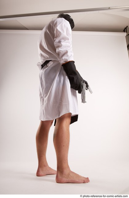 Man Adult Average White Fighting with gun Standing poses Casual