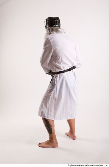 Man Adult Chubby White Daily activities Standing poses Coat