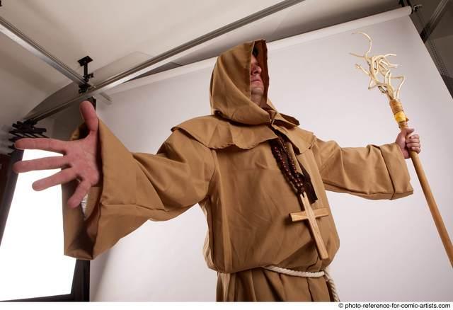 Man Adult Average White Magic Standing poses Coat