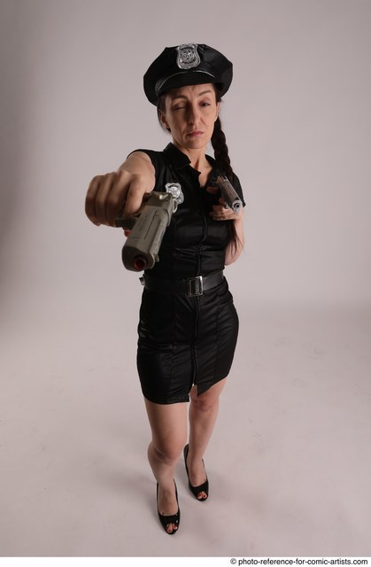 Woman Adult Athletic White Fighting without gun Standing poses Casual