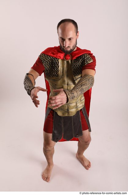 Man Adult Average White Fighting without gun Standing poses Army