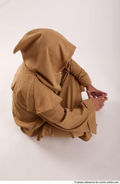 Man Adult Chubby White Neutral Sitting poses Coat