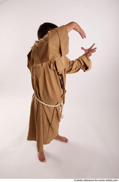 Man Adult Chubby White Magic Standing poses Coat