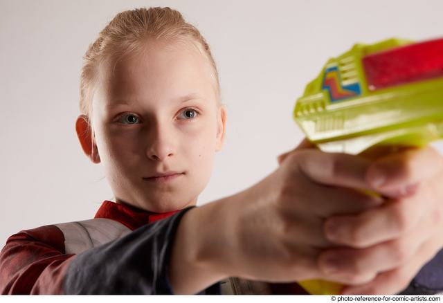 Woman Young Average White Fighting with gun Standing poses Army