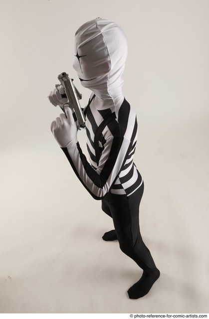 Man Adult Average Another Fighting with gun Standing poses Casual