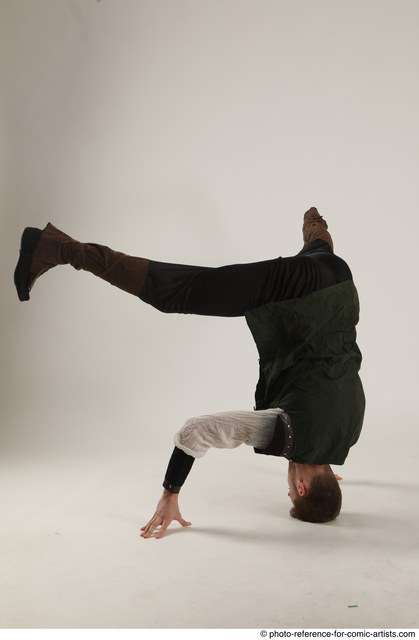 Man Adult Athletic White Moving poses Casual Dance