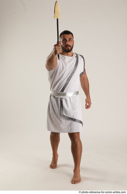 Man Adult Muscular White Daily activities Standing poses Casual