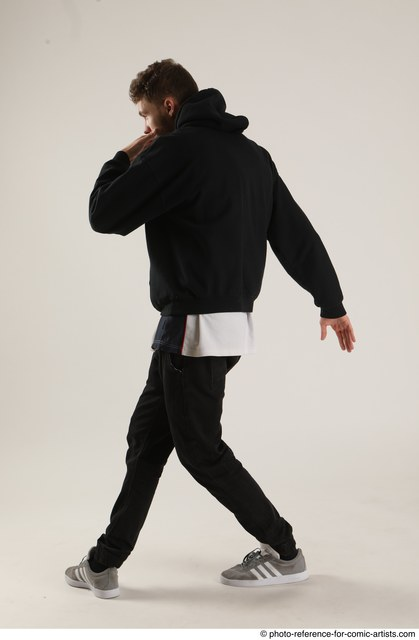 Man Adult Athletic White Standing poses Casual Dance