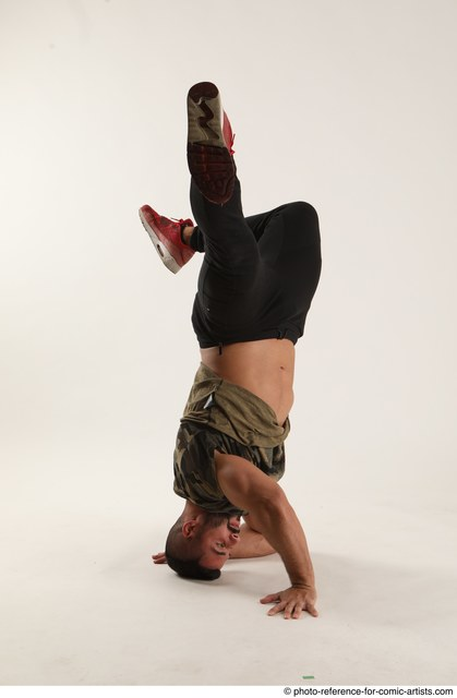 Man Adult Muscular Moving poses Casual Latino Dance