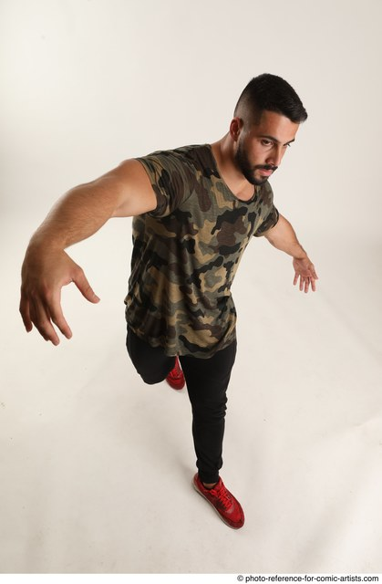 Man Adult Athletic Moving poses Casual Latino Dance