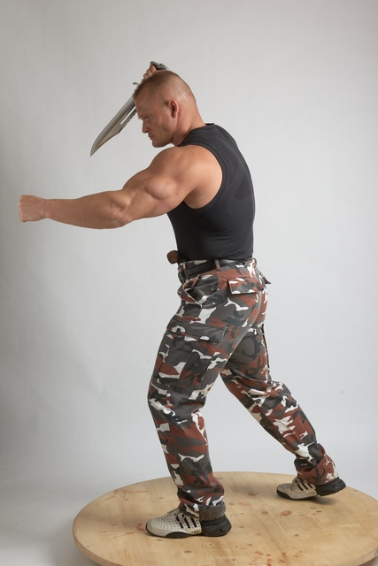 Man Adult Muscular White Martial art Standing poses Casual
