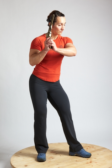 Woman Adult Average White Fighting with gun Standing poses Casual