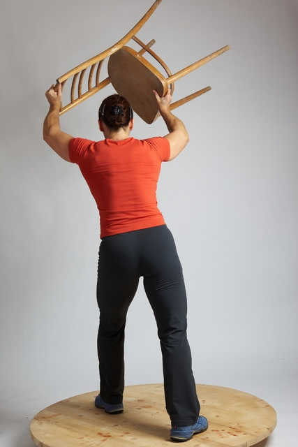 Woman Adult Average White Throwing Standing poses Casual