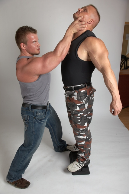Adult Muscular White Fist fight Standing poses Casual Men