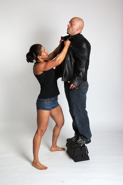 Man & Woman Adult Average White Fist fight Moving poses Casual