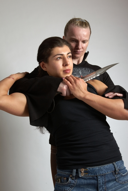 Adult Average Fighting with gun Standing poses Casual Women